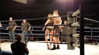 Tim Hague walks off ring after fight with Adam Braidwood