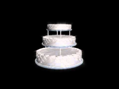 happy birthday animated cake -- Looping , Free video download
