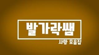 발가락쌤 사망 모음집 베스트10