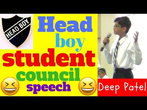 head boy speech for school election and student council president speech funny ideas by Deep Patel