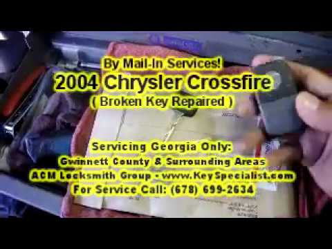 2004 Chrysler Crossfire - Broken Remote key Repaired. By Mail-in Services!