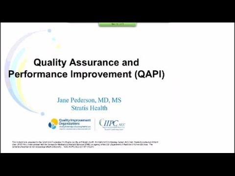 Quality Assurance and Performance Improvement (QAPI)