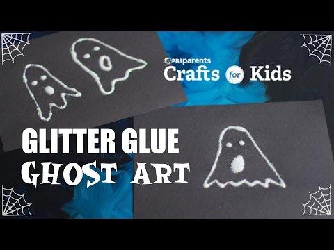 Glitter Glue Ghost Art | Crafts for Kids | PBS Parents