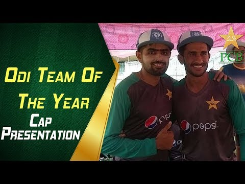 ICC ODI Team of the Year caps presented to Babar Azam and Hasan Ali | PCB