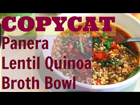 Copycat Panera Lentil Quinoa Broth Bowl-Made VEGAN