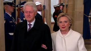 Hillary Clinton Arrives at Trump Inauguration