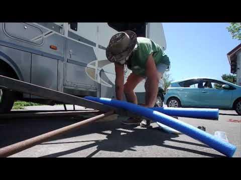 Making a kayak trailer 3 + Pool Noodle Warning!