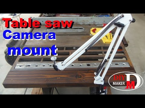 table saw camera mount