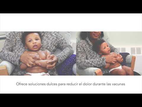 Ofrece soluciones dulces para reducir el dolor durante las vacunas