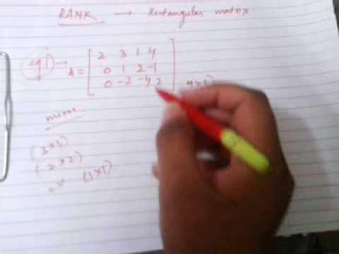 Rank of a rectangular matrix (example)...