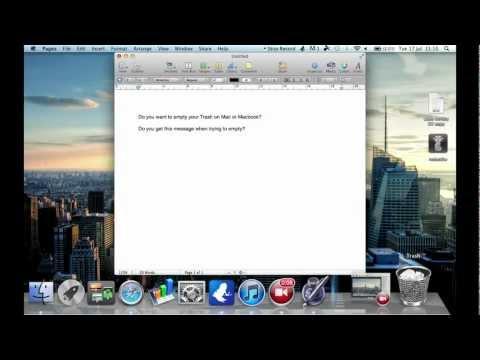 Fast Hard Empty Trash on Mac, Macbook Pro, Macbook Air. Terminal