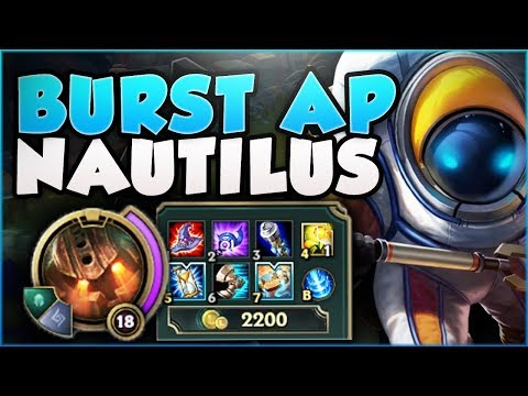 CAN ANYONE SURVIVE THIS FULL AP NAUTILUS BURST?? NAUTILUS SEASON 8 TOP GAMEPLAY! - League of Legends