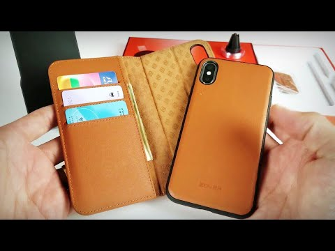 iPhone X:  Zover Magnetic Detachable Wallet Case (Can Wirelessly Charge too)