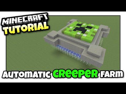 Minecraft Xbox - CREEPER FARM [ Automatic ] Tutorial - MCPE / PS4 / PS3 / Switch