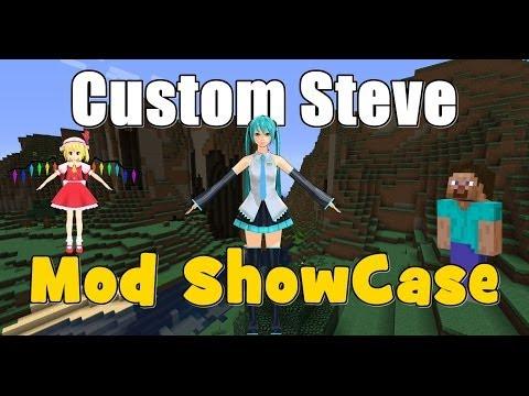 Custom Steve Mod Showcase! Minecraft 1.6.2 & 1.6.4