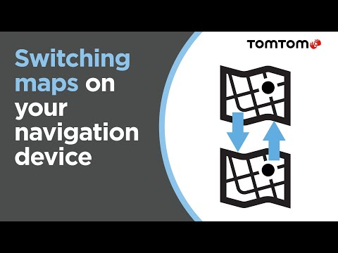 Switching maps on your navigation device