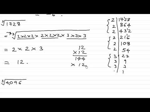 Finding Cube root by factorization method
