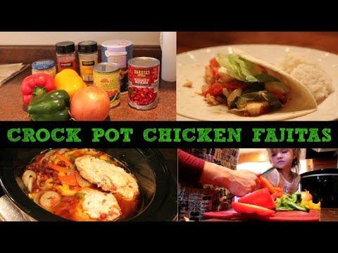 CROCK POT CHICKEN FAJITAS | Crock pot Challenge | Mini Vlog included