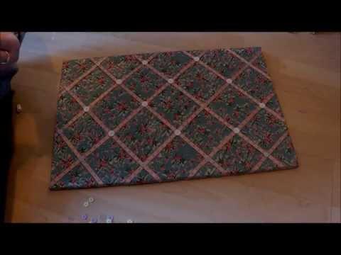 ♡ D.I.Y. Fabric Memo Board ♡