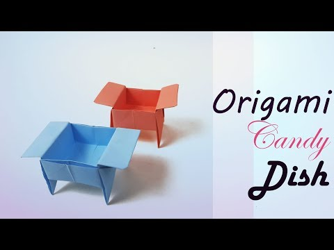 How to make an ♦ Origami Candy Dish ♦ Candy Box/ Candy Dish for beginners & kids - DIY - Paper Work