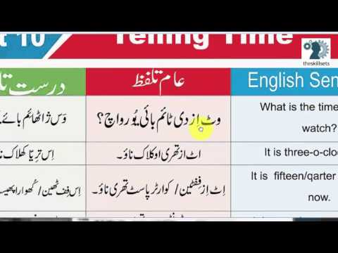How to tell the time in English | Hindi/Urdu Lesson with Muhammad Akmal via The Skill Sets