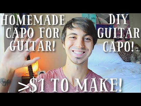 Homemade Capo for Guitar for Under $1! //  Easy DIY Guitar Capo!