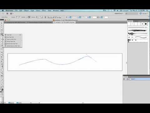 Illustrator tutorial: How to make Curved Text using Adobe Pen and Text on Path Tools
