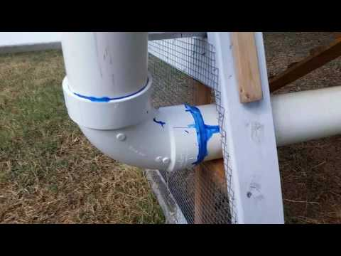 Update to the A frame coop, pvc pipe chicken waterer for my black australorps.