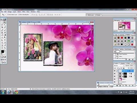How To Create Photo Frame Wedding Photo Frame Easy In Adobe Photoshop