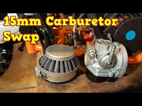 How to Replace 15mm Carburetor on 49cc Pocket Bike Engine