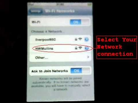 How To Connect Your iPhone/iPod Touch To the internet