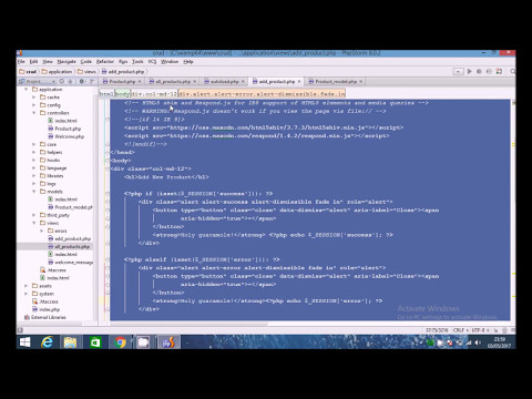 Codeigniter PHP CRUD Tutorial (2/4) - Fetch Results
