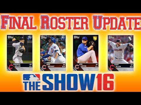 MLB The Show 16: Final Roster Update 11/4