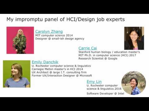 HCI/Design Careers for New College Grads (full 40-minute talk)