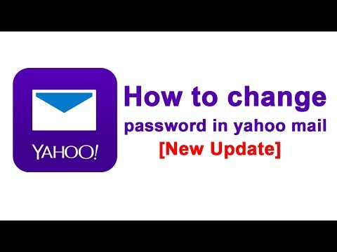 [New Update] - How to change password in yahoo mail