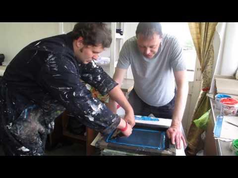 Kyle and David printing at a Raising the Bar Apex Arts workshop
