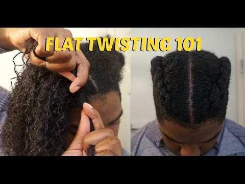 FLAT TWISTS 101: 6 easy steps! | Men's Natural Hair Care