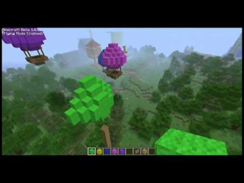 How to build a hot air balloon minecraft