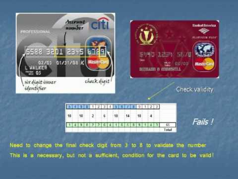 Credit Cards - Breaking the Code: The maths behind bank numbers and the Luhn test
