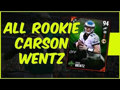 MUT 17 Gameplay | This Card Is Too Good To Be So Cheap! All Rookie Carson Wentz Gameplay