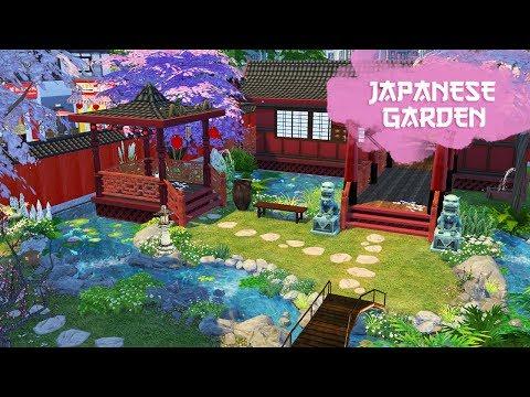 JAPANESE GARDEN Sims 4 || Speed Build || Simsbiosis