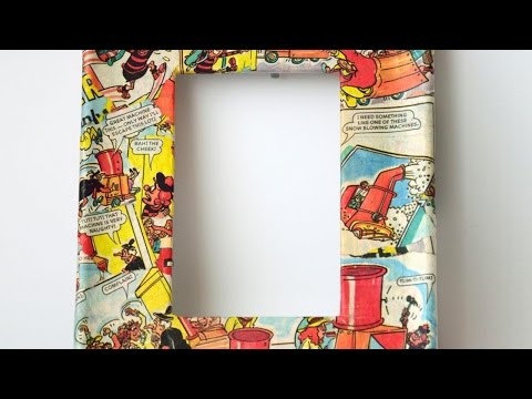 How To Create Cool Comic Book Decoupage Frames - DIY Home Tutorial - Guidecentral