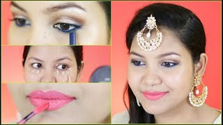 EID makeup tutorial/easy step by step makeup for beginners / INDIANGIRLCHANNEL TRISHA