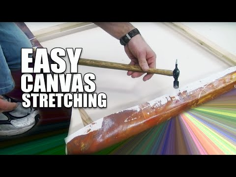 How to stretch a large canvas painting