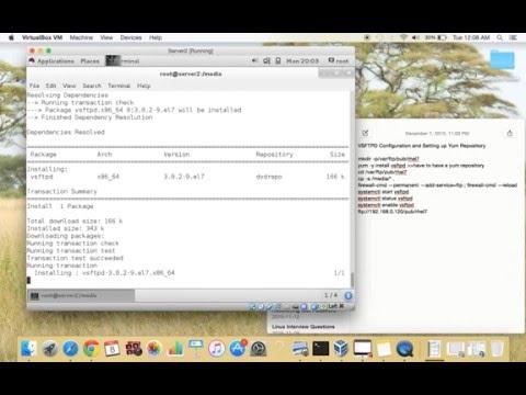 (RHCSA PREP)  How to Configure FTP server and setup a FTP yum repository on RHEL7