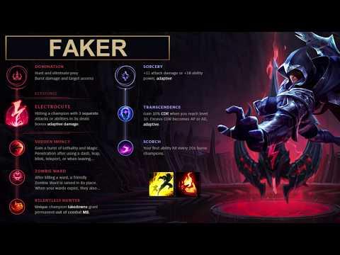 SKT Faker Build Talon - New Runes Season 8 solo vs Ryze (League of Legends Guide)
