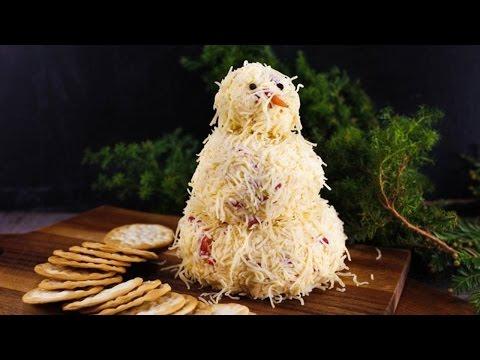 Katie Lee's Snowman Cheeseball