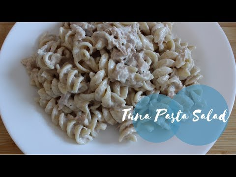 Tuna Pasta Salad (Super EASY recipe!)