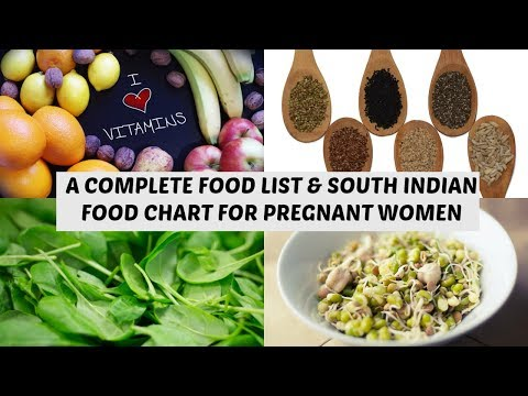 Complete food list for pregnancy and South Indian food chart | Indian pregnancy food diet chart