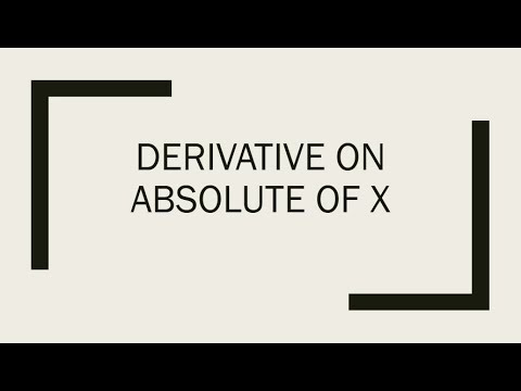 Derivative on absolute of x
